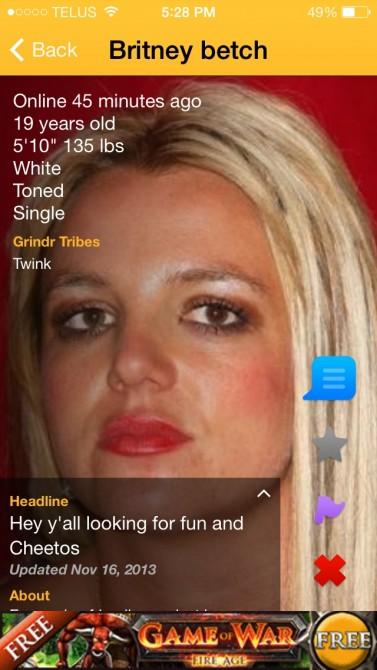 Britney Grindr