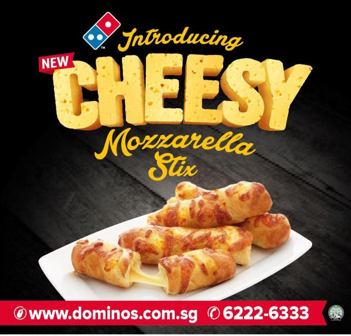 Domino's Cheesy Mozzarella Stix Banner